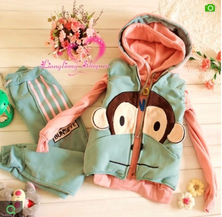 Purchase of authentic Paul Frank set of three sport thin fleece padded coats for fall/winter fun with women