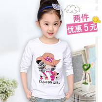 Kids girls children in the spring and summer blouse cotton long sleeve t shirt female end of new childrens t shirts