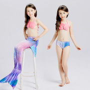 Mermaid tail costume children swimwear swimsuit girls clothing children bikinis split Princess swimming suit