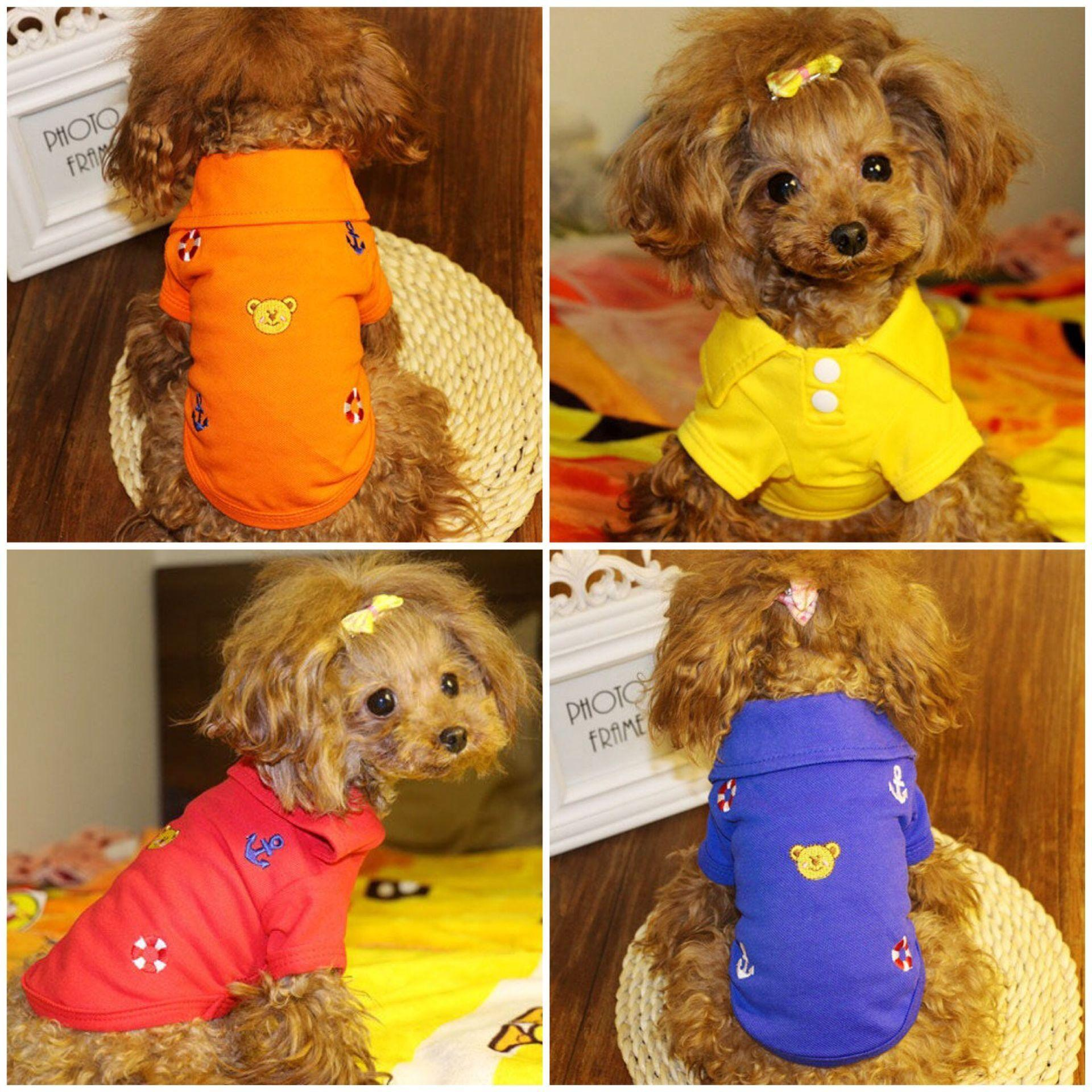 Shipping ultra-thin breathable dog clothes in summer clothes clothes Teddy pet Schnauzer Bichon puppy shirt