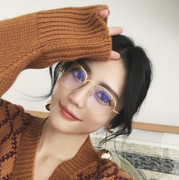 Round plain glasses female Korean face with red tide net glasses retro personality myopia glasses frame number
