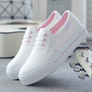 Spring and summer a white canvas shoes. A pedal white shoe shoes casual shoes shoes tide students