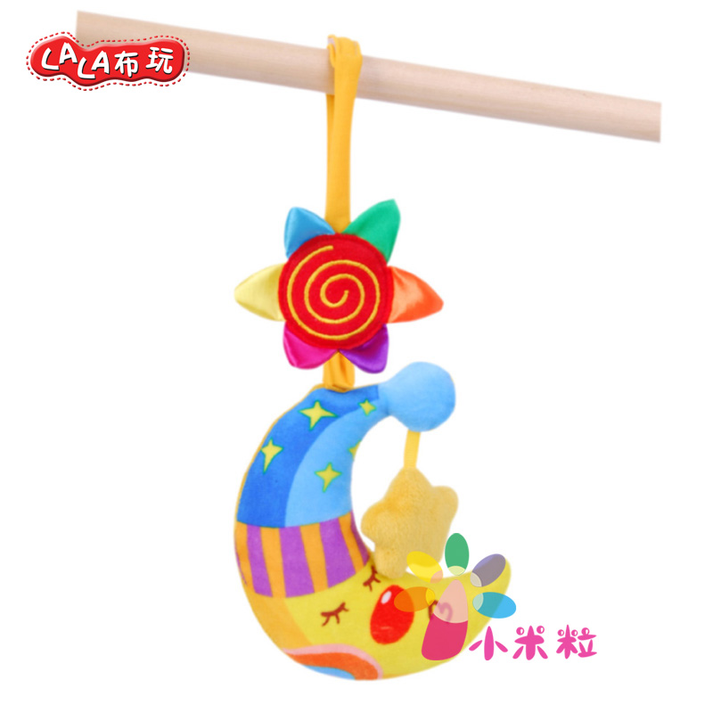 Lalab play goodnight moon pull shock 2-3-5-6 months baby crib car hanging hanging bed rattle