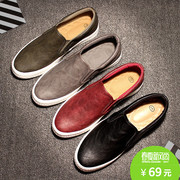 The lively spring Le Fu leather shoes off British casual shoes shoes shoes shoes lazy pedal all-match shoes