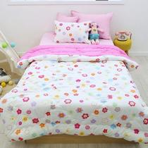Korea purchasing childrens global share of bedding and pink flower girl princess wind winter comfort quilt cotton pillowcases