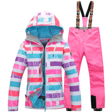 Authentic gsou snow ski suit female ski suit single plate double waterproof plate thickening Korean ski suit