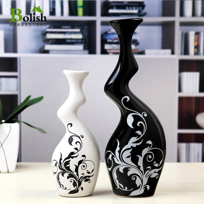 创意牛腿花瓶景德镇陶瓷工艺品 欧式简约家居装饰品客厅酒柜摆件