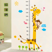 REMOVABLE STICKERS children cartoon baby height ruler tenants hall wall decoration stickers stickers animal height
