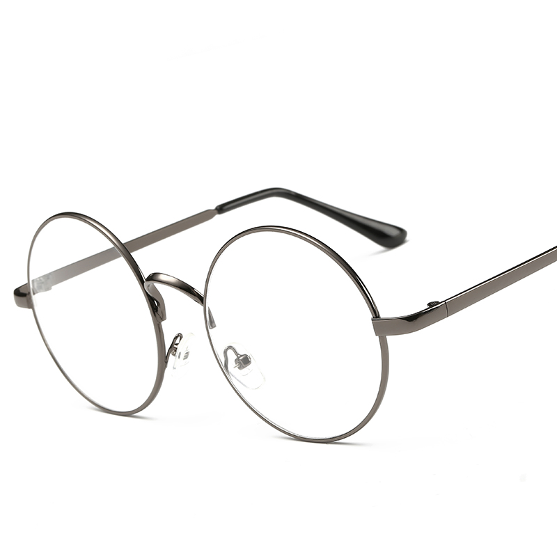 Pingguang retro big box ultra light round glasses and frame with lens 0/150/250/300500