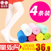 Girls Tights summer thin children Leggings baby white stockings stockings stockings dance practice students