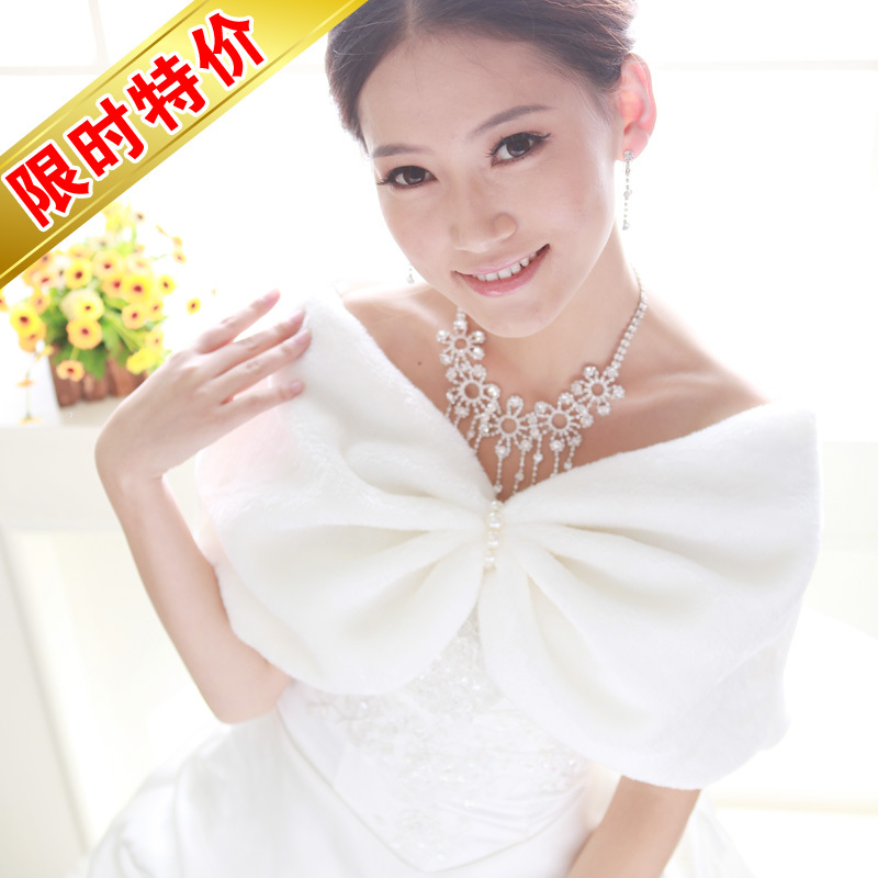 In the fall and winter of 2015 new wedding dress cape coat thin bride white wedding cheongsam dress wool shawls