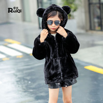 2016 winter coats for children quilted padded coat long coat faux fur plush girls new year boys