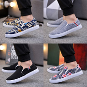 Men's shoes shoes casual shoes summer student canvas shoes pedal lazy shoes old Beijing shoes spring