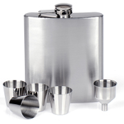 Baishile filled with 1 pounds 18 ounces of 304 thick stainless steel flagon carry in the outdoor set custom lettering