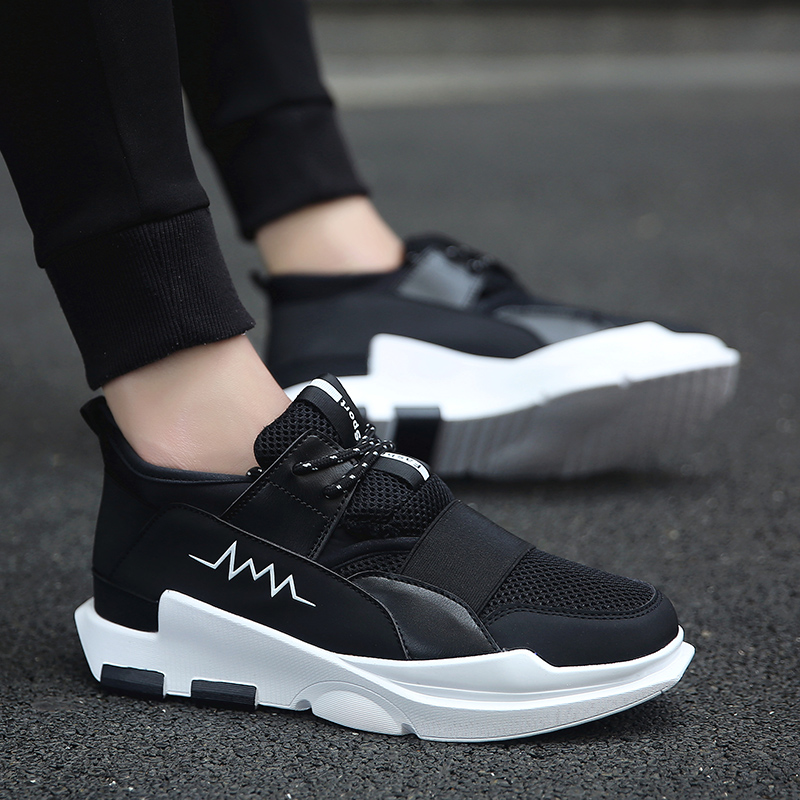 Summer all-match Korean white shoes soled shoes' men sports shoes in white shoes by climax