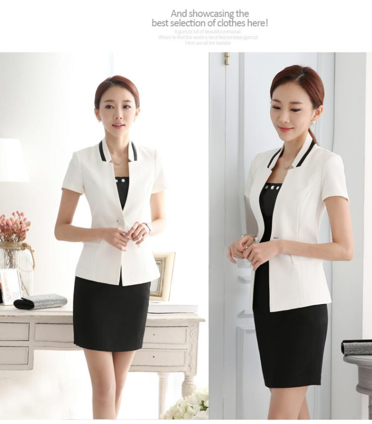 New summer dress dress occupation Hotel beautician working suits female short sleeved summer