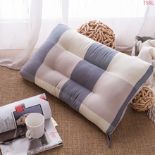 Ying Xin Textile washable cotton pillow high elastic fiber neck pillow big blue gray 46*72cm