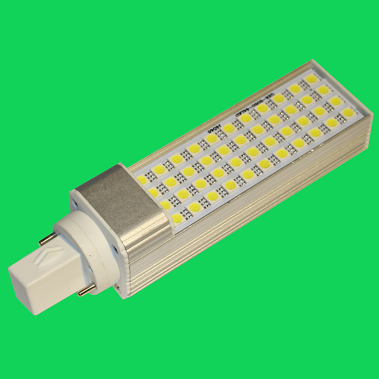 Best selling energy saving lamp 9W led G24 horizontal thrust tube PL plug two ultra bright bulb light interior light
