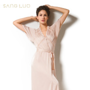 Autumn and winter clothing Home Furnishing sang Luo silk pajamas silk gown elegant female split S009