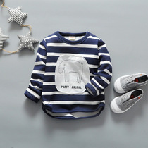 Boys long sleeve t-shirt 1-2 spring new quarter-end of 3-4-year-old boy shirt baby boys cute cotton shirt