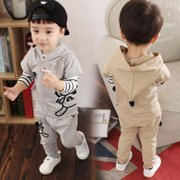 2017 new spring male children 1-2-3 years old infant baby spring long sleeved suit three piece suit