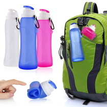 Travel Cup silicon glue bottle outdoor portable foldable bottle need to exercise creative kettle