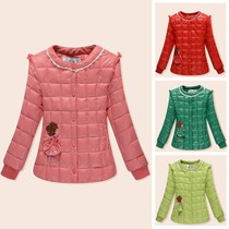 Autumn winter 2016 new children with down comforters cotton cotton thin cropped jacket girls warm liner coat