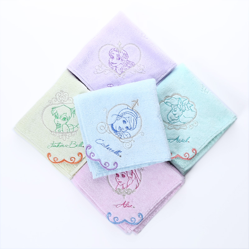 Export, Disney Disney Alice small towel embroidery cotton soft handkerchief