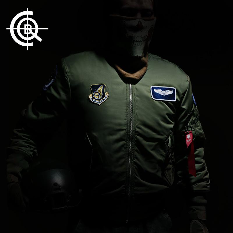 cqb军迷服饰空军臂章款飞行夹克男女ma1 秋冬棉服棉衣飞行员外套