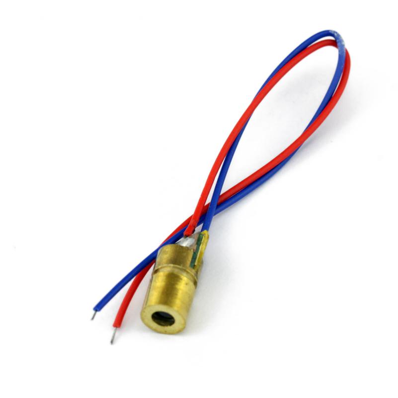 菲比特5V可调 激光管 激光头 铜头6MM外径  红色点状激光模组