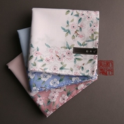 And wood remember (Cherry Blossom) handkerchief, ladies sweat handkerchief, cotton handkerchief, romantic cherry soft thin