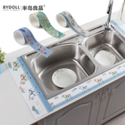 Self-adhesive kitchen sink vegetable washing basin water wash station toilet waterproof moisture paste paste antifouling Bathroom Glass Sticker