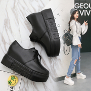 2017 new spring shoes platform shoes increased with the British women's Korean Po le fu shoes soled shoes
