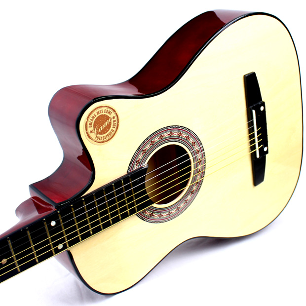 38 inch guitar, folk beginner, guitar player, student, beginner, beginner, practice instrument