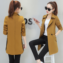 Small suit female autumn new dress Korean leisure slim suits in the long autumn spring and autumn thin coat