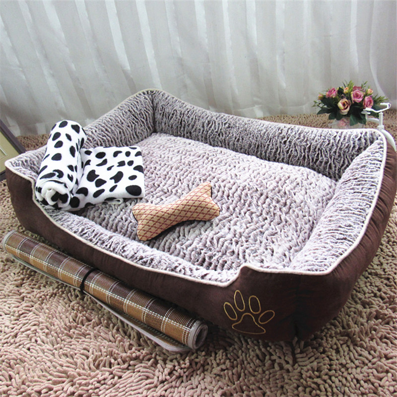 Package mail pet dog kennel can unpick and wash teddy litter litters large breed dogs bed mat cat nest summer autumn and winter