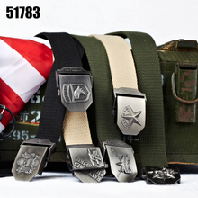 The 51783 army men's Canvas Belt Thickening many tactical male casual outdoor canvas belt fashion pants belt tide