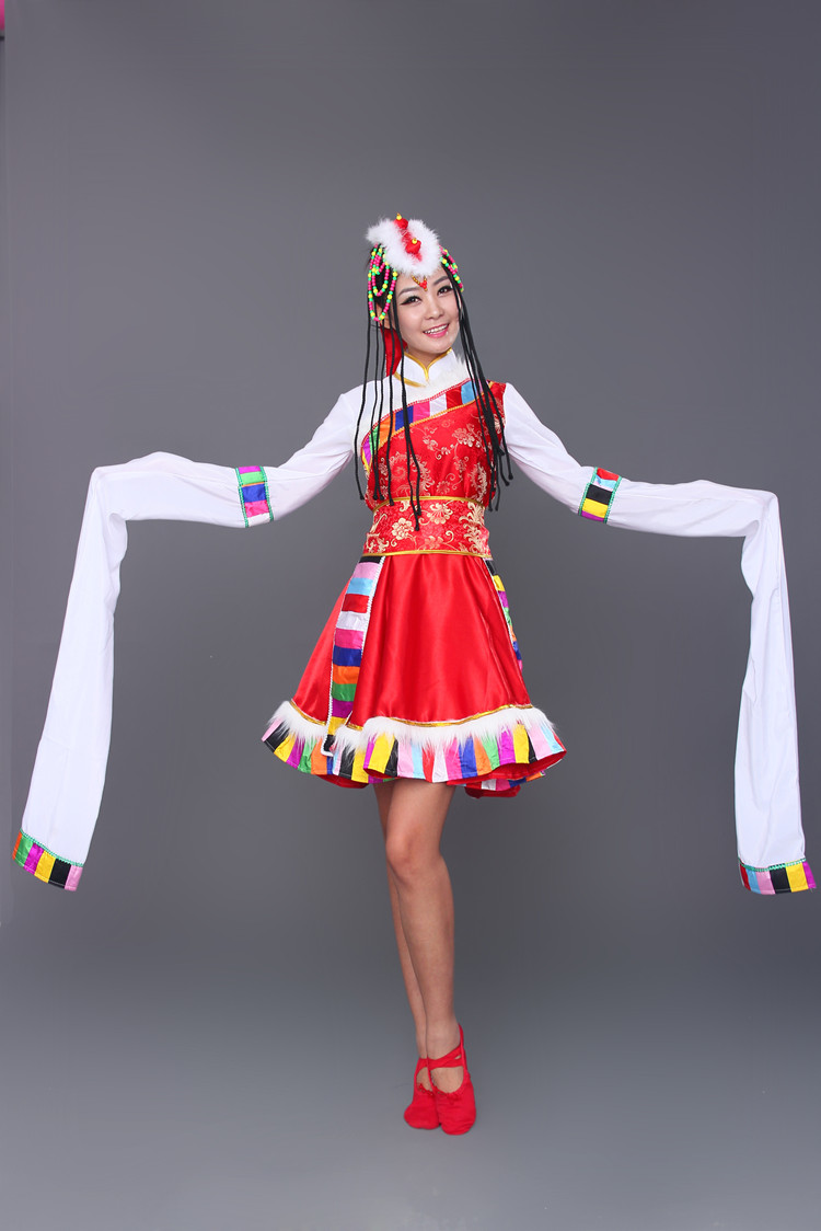 New ethnic Tibetan dance clothing ethnic Tibetan costumes sleeves stage costumes women