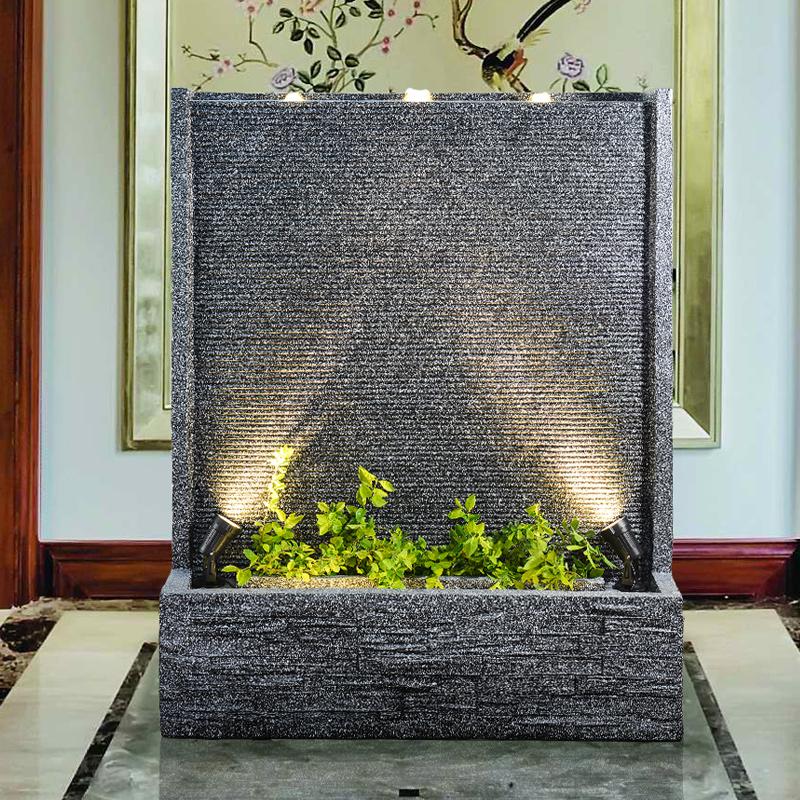 欧式流水喷泉摆件客厅公司别墅花园庭院大型鱼缸造景水循环水幕墙