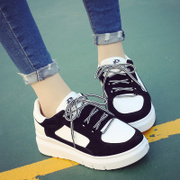 In spring 2017 new Korean run sports shoes ulzzang shoes in Harajuku thick white shoes