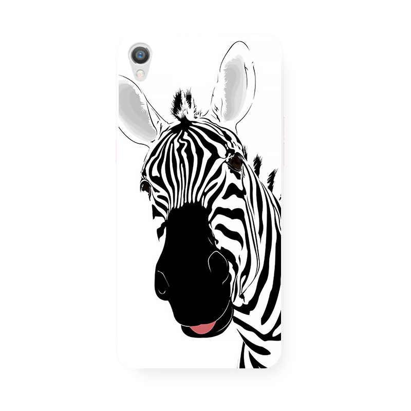 Lovely hand-painted funny zebra OPPO, R9, s, R7plus, R7S original mobile phone shell, all inclusive TPU soft anti wrestling