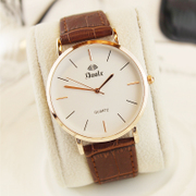 Korean students watch Korean men and women watch belt simple waterproof ultra-thin quartz watch watches a couple of