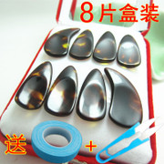 Hand polished tortoiseshell thickened double arc groove professional Zheng nail serie a medium and small adult children