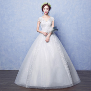 Wedding dress 2017 new word shoulder to waist Princess Bride Wedding light pregnant size thin forest system