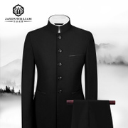 The spring and autumn ZhongShanZhuang suit men Chinese collar suit young Korean costume male Chinese dress casual slim