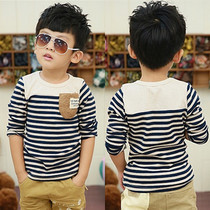 New childrens clothing fall of 2016 age boys long sleeve t shirt Korean wave of children in cotton bottoming shirt