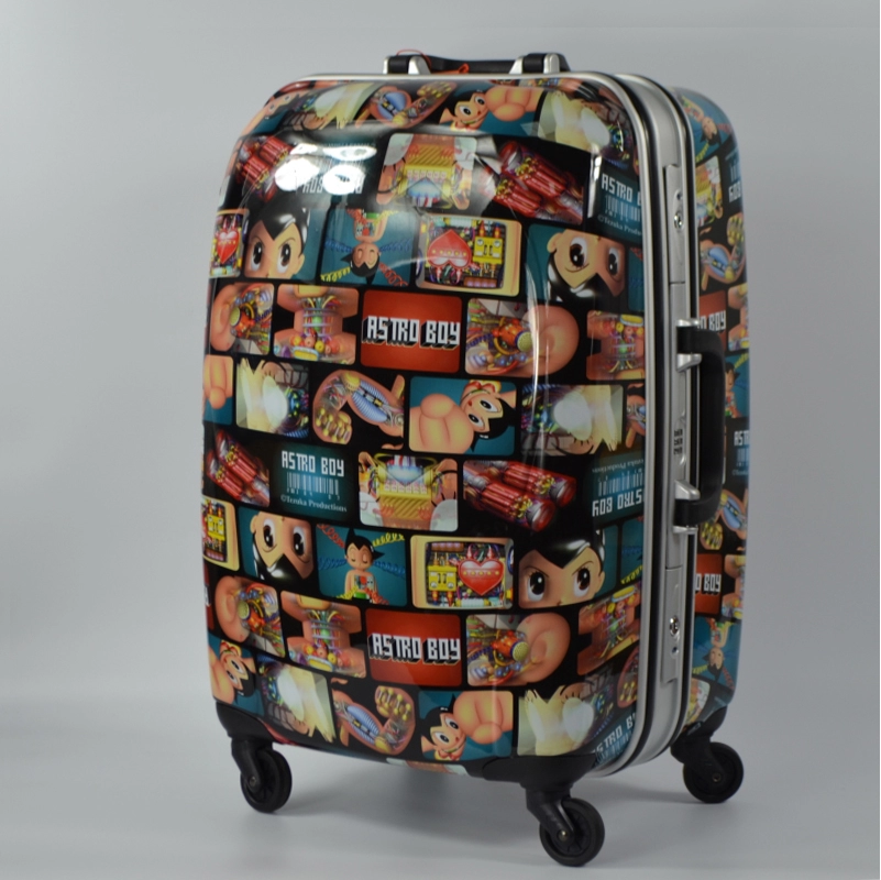 Genuine aluminum box trolley bags female male cartoon travel case classic children's Japanese and Korean students luggage cabin tide