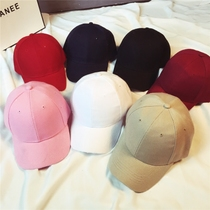 Korea ulzzang curved eaves plate solid color couple Cap child and women hip hop baseball cap Hat