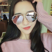 Polarized sunglasses female hollowed out personality Sunglasses star Korean round face 20