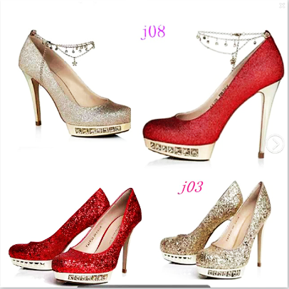 Spring/summer 2015 Crystal rhinestone chains gold ultrafine red platform high heel bridal wedding shoes women's shoes